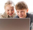 Young students with laptop